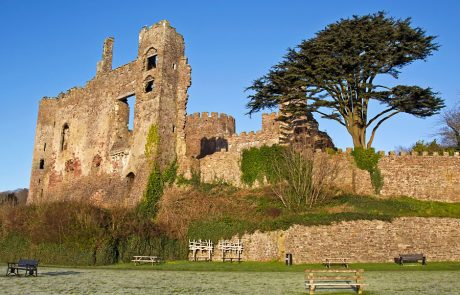 Wales Coast Path: Laugharne Castle: Carmarthenshire