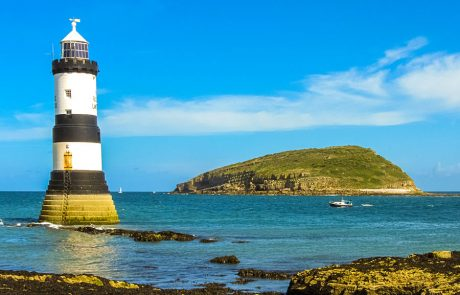 Wales Coast Path: Isle of Anglesey: Lighthouse, Penmon Point