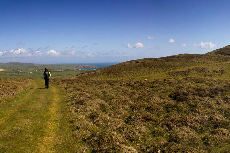 Wales Coast Path, end of the Llyn Peninsula