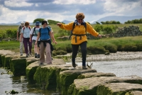 Afon Briant stepping stones, Menai Strait, Anglesey