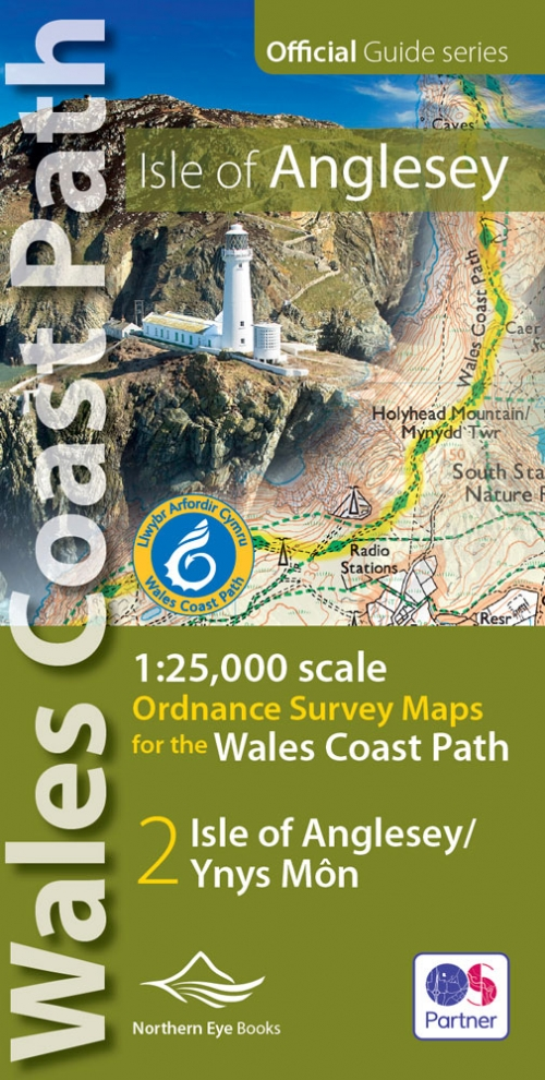 Anglesey Wales Coast Path OS map atlas - 1:25,000 scale
