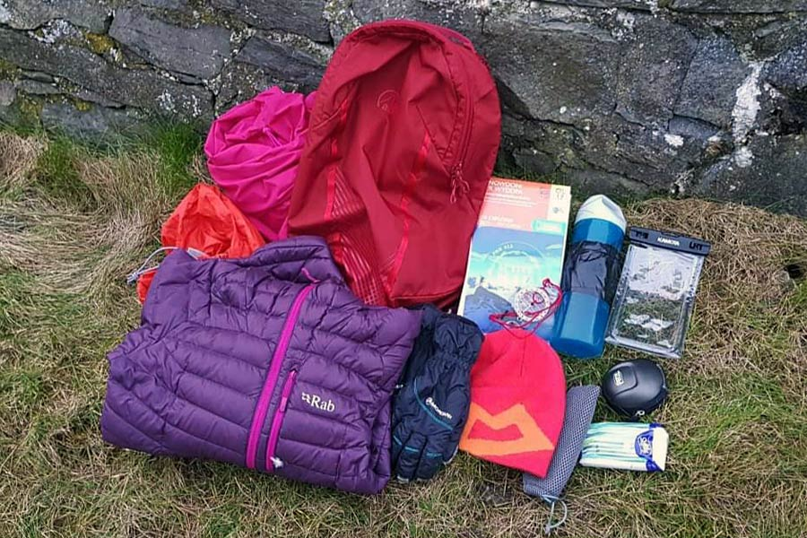 Suggested walking gear for a day walk on the Wales Coast Path