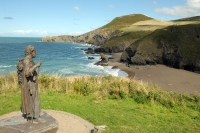 Llangrannog on the Ceredigion Coast Path
