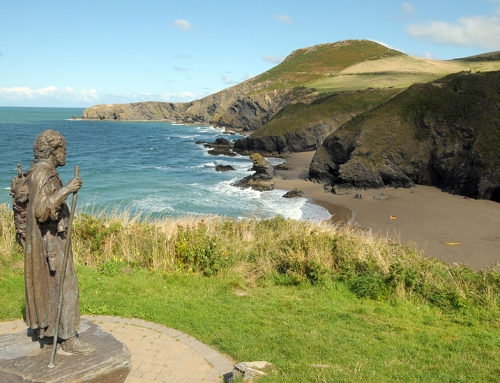 Scenic cliff-top walking in Ceredigion