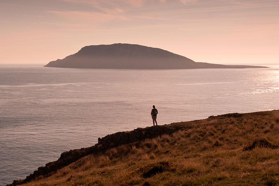 Bardsey seen from Uwchmynydd on the Llyn Peninsula