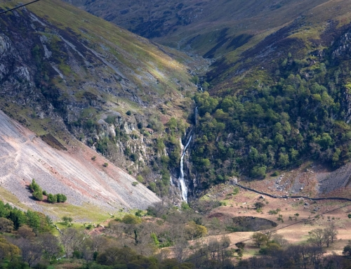 The mighty Aber Falls and Lafan Sands