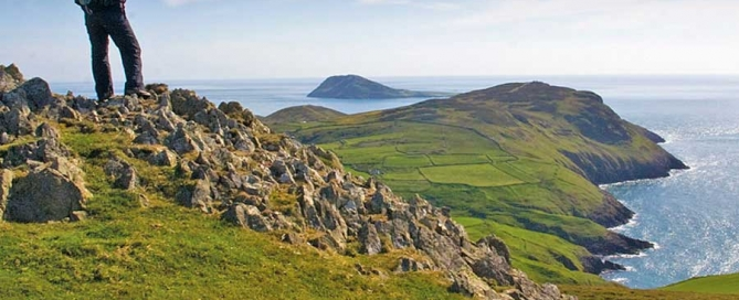 Bardsey island from Uchmynydd, on the Llyn Peninsula