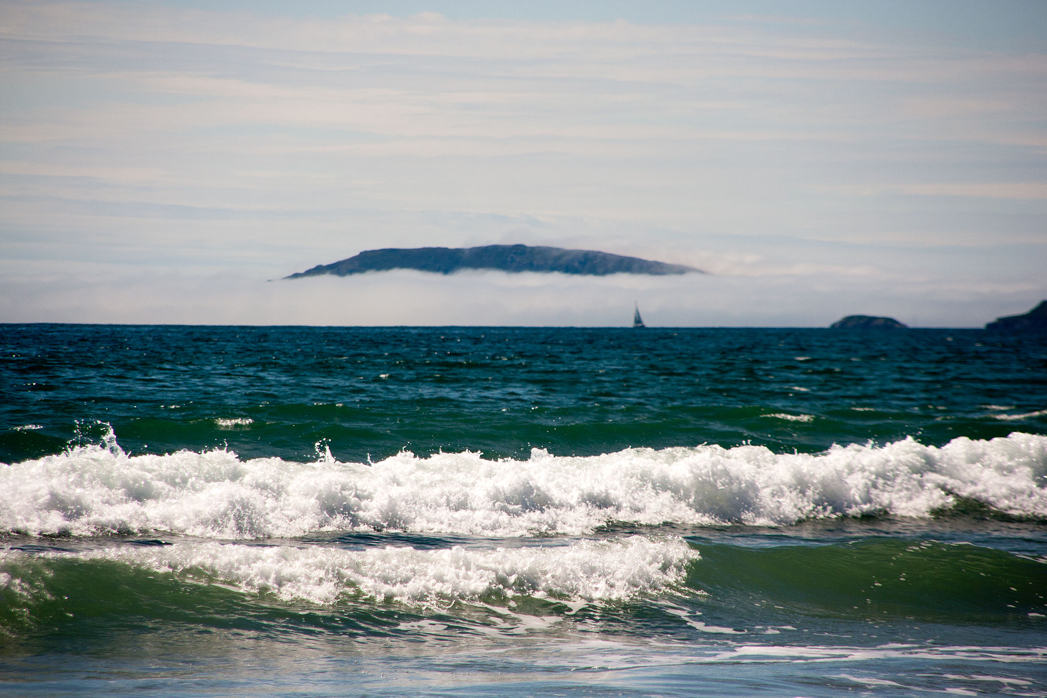 Bardsey island fog bank
