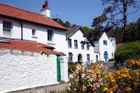Whitewashed houses on Caldey Island, off Tenby