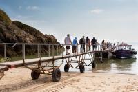 Low tide pontoon for Caldey Island boat