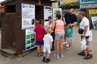 Buying tickets for the boat trip to Caldey Island