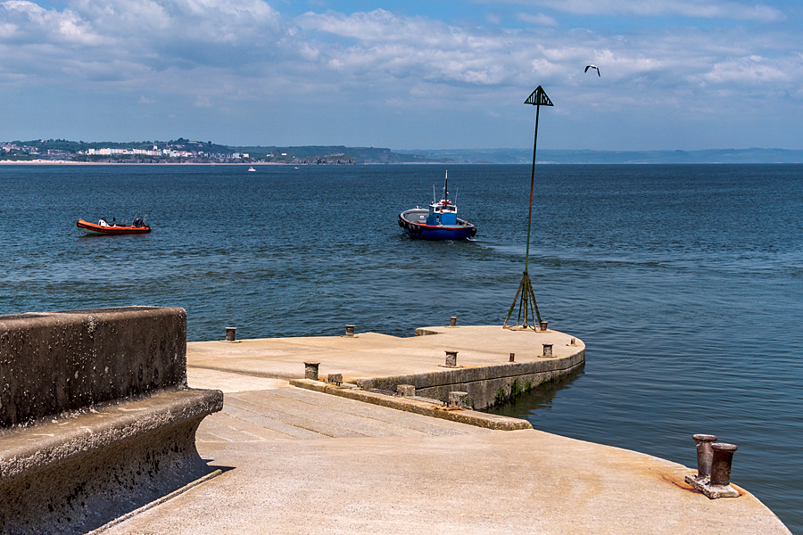 Leaving Caldey Island's jetty for the mainland