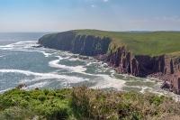 Caldey Island cliffs
