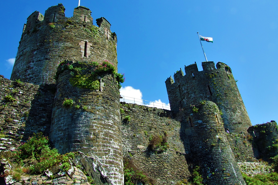 Conwy Castle is on the Wales Coast Path