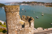 Conwy Castle guards the river mouth