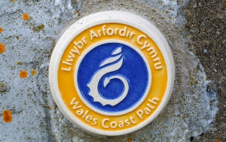 Wales Coast Path way marker