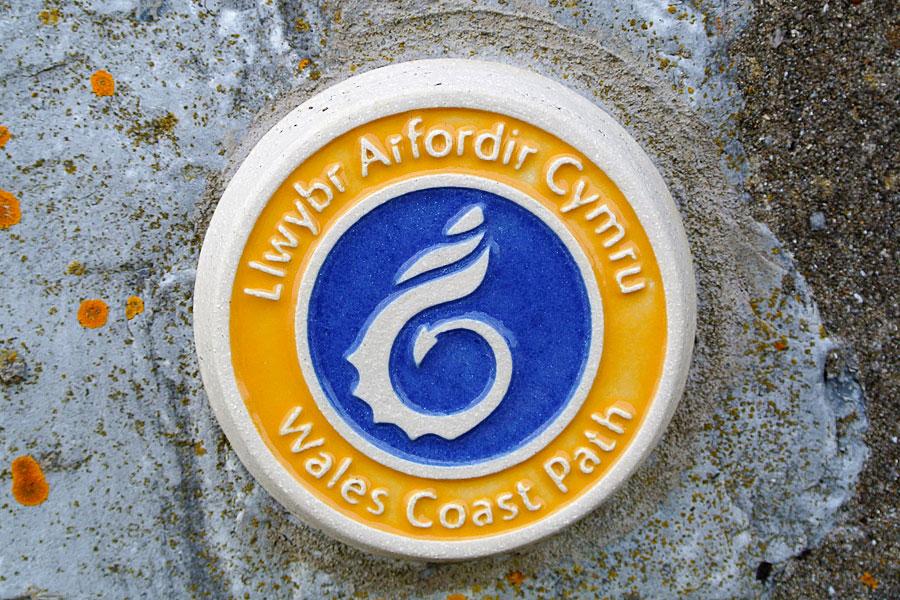 Wales Coast Path way marker