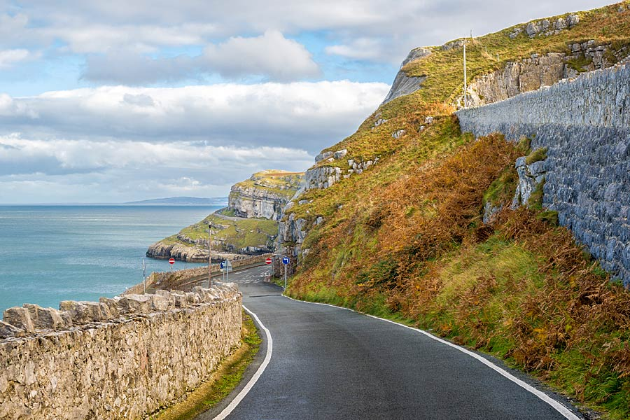 Coast road on the Great Orme, North Wales