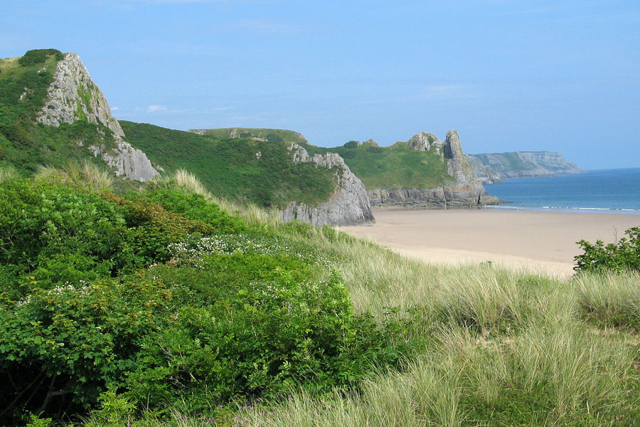 Great Tor and Oxwich Bay on Gower