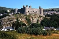 Harlech Castle on its crag