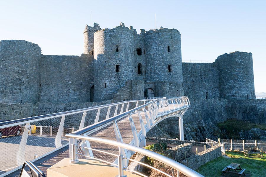Harlech Castle's new access bridge