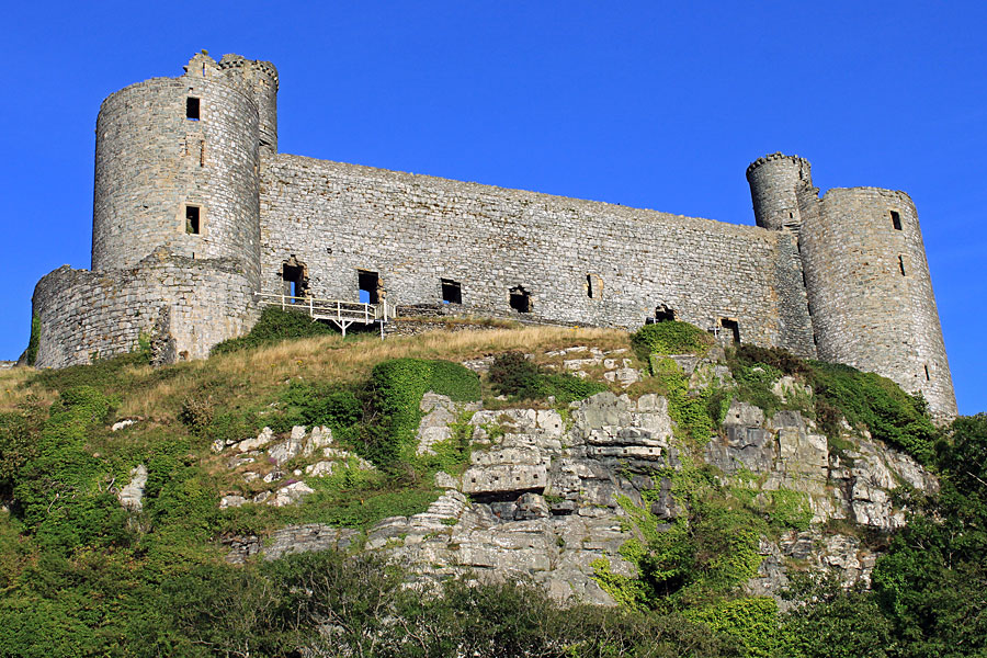 Harlech Castle, on the Wales Coast Path