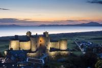 Harlech Castle, Gwynedd at night