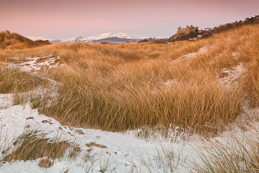 Harlech Castle from the beach