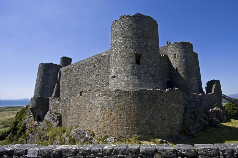 Harlech Castle, Gwynedd, is on the Wales Coast Path
