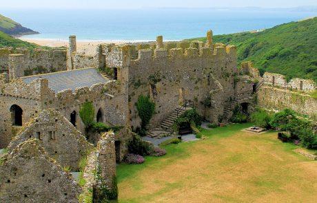 Wales Coast Path: Manorbier Castle, Pembrokeshire