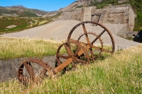 Nant Gwrtheyrn, old quarry machinery