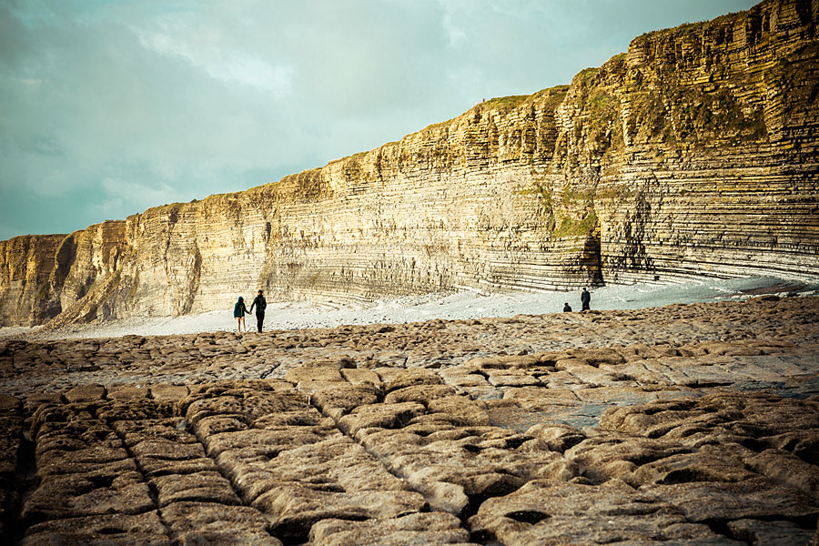 Limestone cliffs at Nash Point on the Glamorgan Heritage Coast