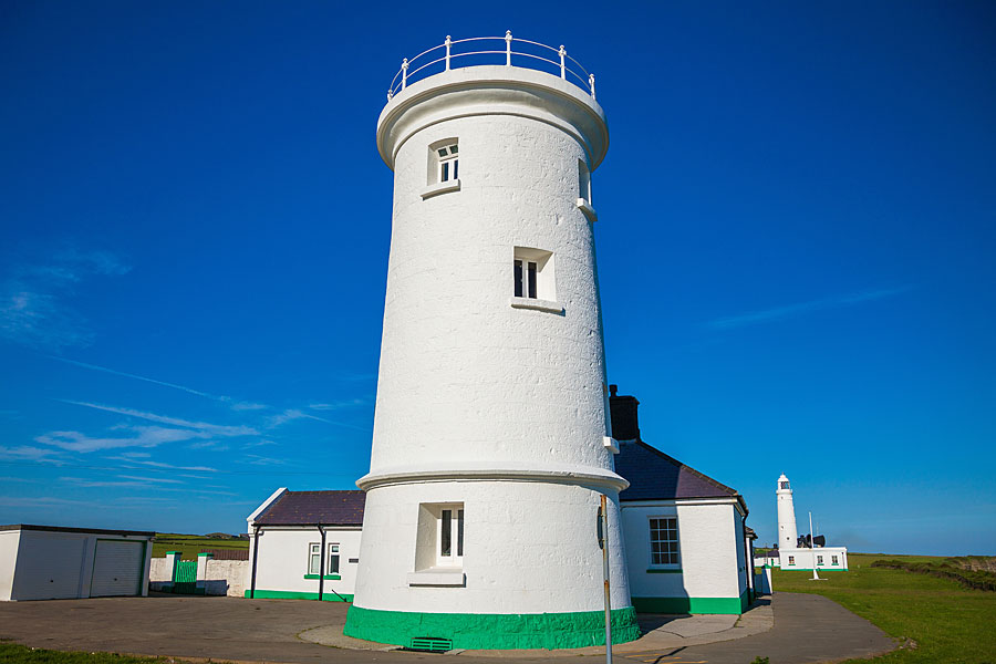Old lighthouse at Nash Point, on the South Wales Coast