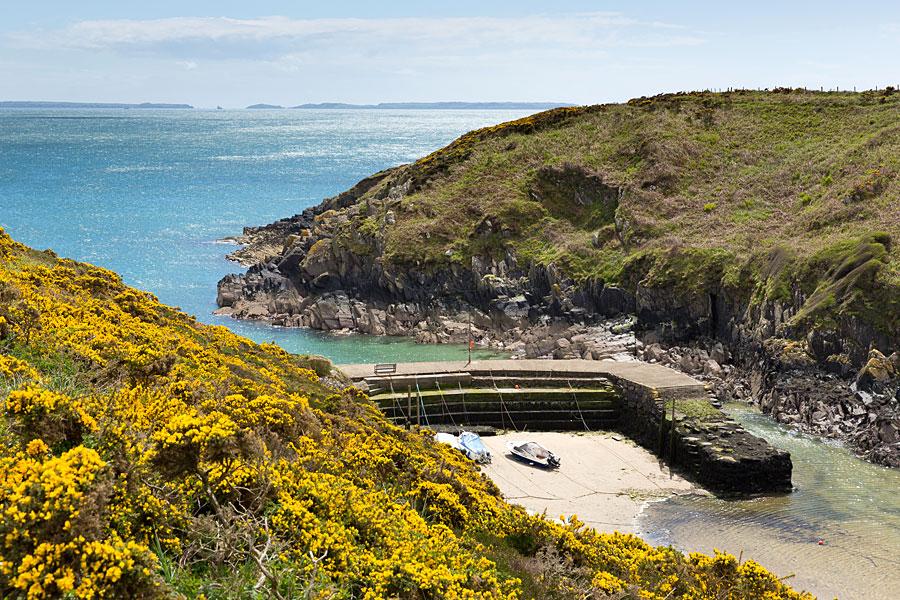 Porth Clais harbour, Pembrokeshire Coastal Path