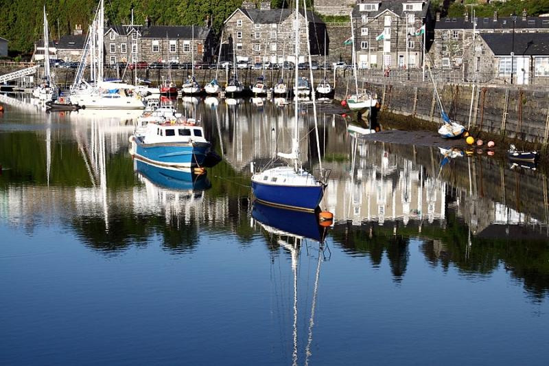 Porthmadog harbour, Gwynedd