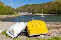 Solva harbour boats, Pembrokeshire Coast Path