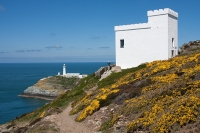 Ellin's Tower and South Stack lighthouse, Anglesey