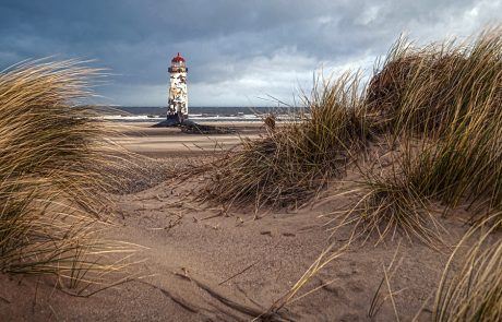 Wales Coast Path: Talacre lighthouse, North Wales Coast