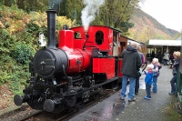 Steam engine on the Talyllyn railway