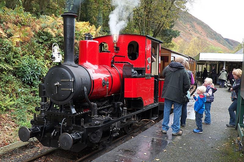 Steam engine on the Talyllyn railway
