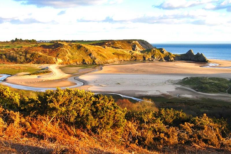 Three Cliffs Bay, Gower - on the Wales Coast Path
