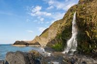 Waterfall at Tresaith Beach, Cardigan Bay, Wales