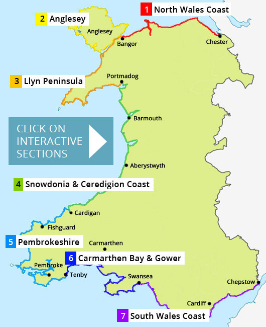 Map Of Wales Uk.Walk The Wales Coast Path