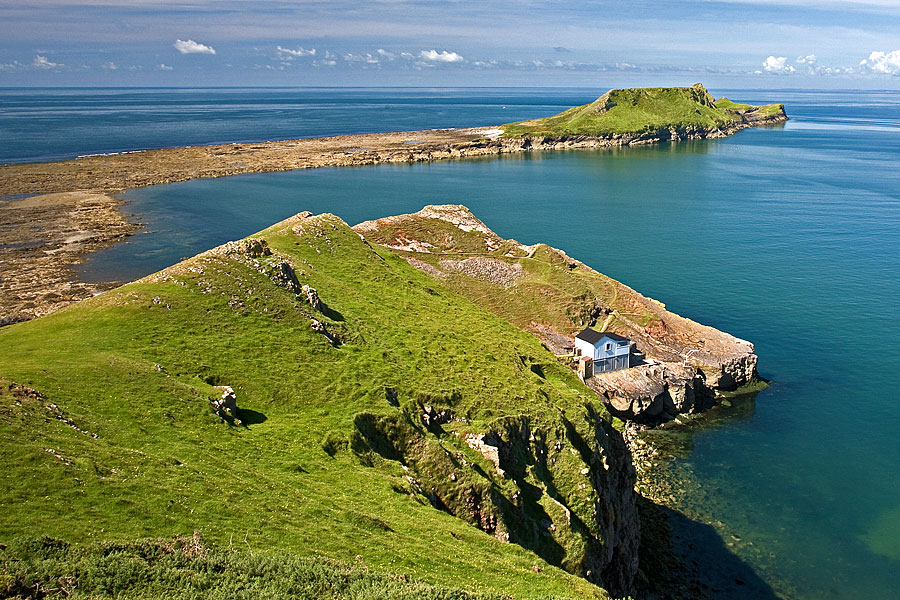 Worm's Head is on the Wales Coast Path, Gower